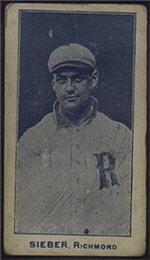 e222 AWH Caramels, Virginia League. 1910 Sieber12