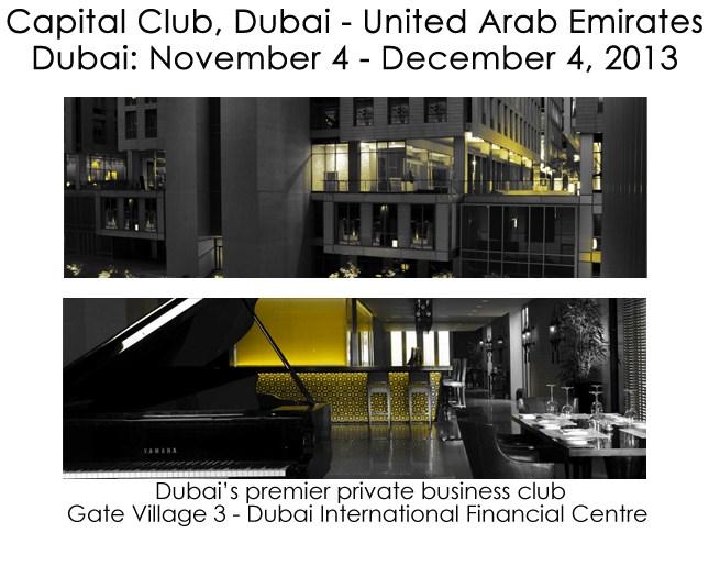 NUNZIANTE al Capital Club DUBAI, 4 Novembre-4 Dicembre 2013 05062013