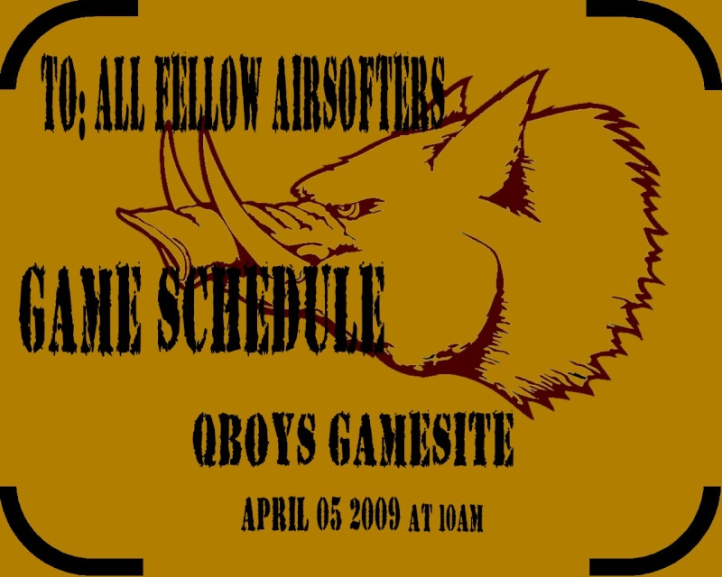 GAME SCHEDULE ON april 5.... Qboys_13