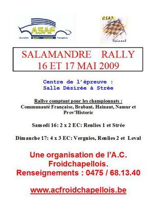 [salamandre rally] 16 et 17 mai 2009 infos, engagés.... Ra-sal10