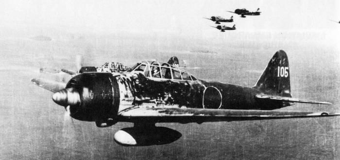 Le Mitsubishi A6M A6m3_m10