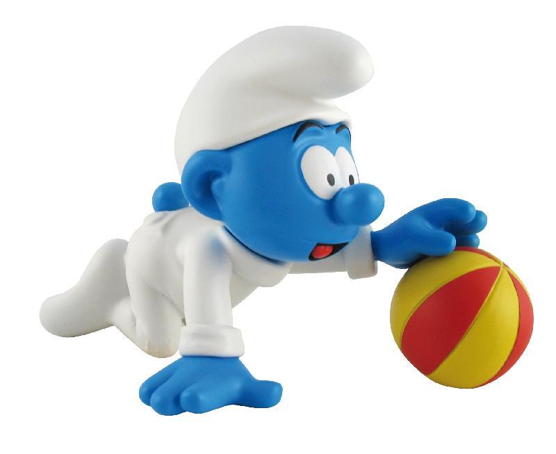[Leblon-Delienne] le bébé schtroumpf qui joue avec son ballon Baba10