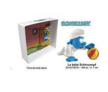 [Leblon-Delienne] le bébé schtroumpf qui joue avec son ballon Baba_310