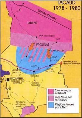 Opération Limousin au TCHAD de 1969 à 1975,est la Première Opération Extérieure de la FRANCE au TCHAD après la Guerre d'ALGERIE, et non pas l'Opération Tacaud.Et qu'on se le dise,Monsieur Yves CADIOU. Carte_11