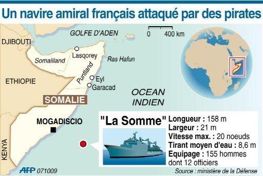Un navire de commandement français attaqué par des pirates somaliens ( Sources A.F.P ) Photo_39