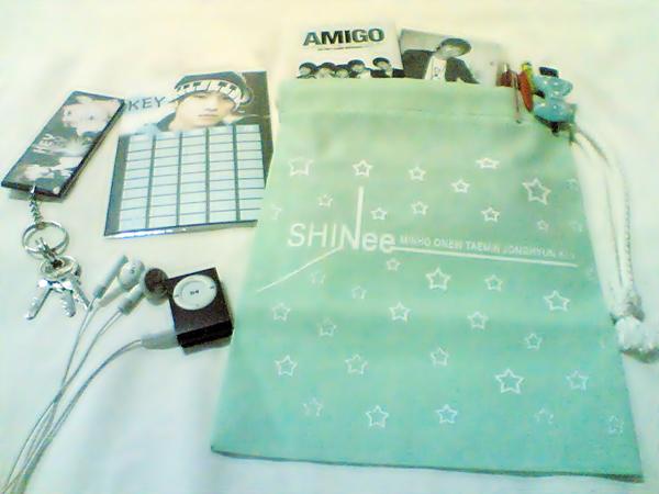 กระเป๋าผ้า SHINee สีเขียวเบบี้บลู Image117