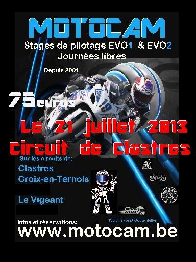 Roulage piste le 21 juillet à Clastres Affich13