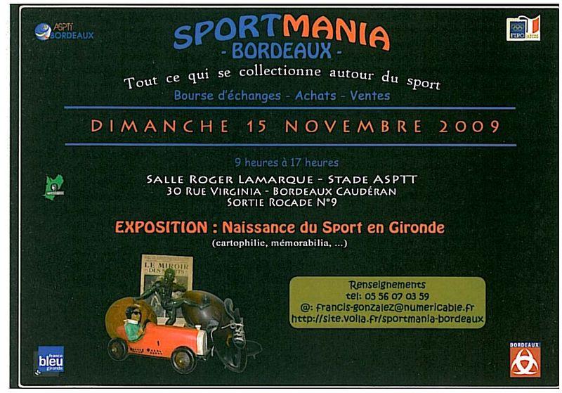 Sportmania 2009 - Bordeaux le 15/11/2009 - Bourse d'échanges / Achats / Vente 23682410