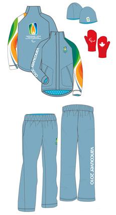Jeux Paralympiques Vancouver 2010 : Torche & Uniforme des relayeurs 6860210