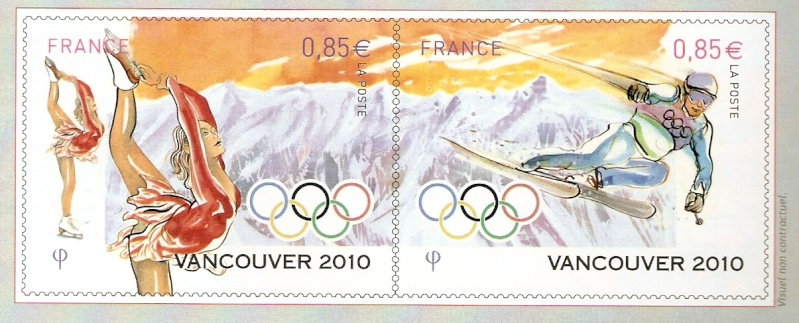 Timbres France - Jeux Olympiques d'Hiver Vancouver 2010 Afcos-10
