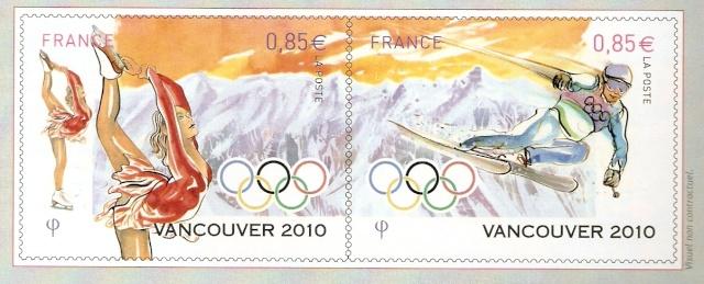 Jeux Olympiques Vancouver 2010 : les timbres français en avant-première ! Afcos-11