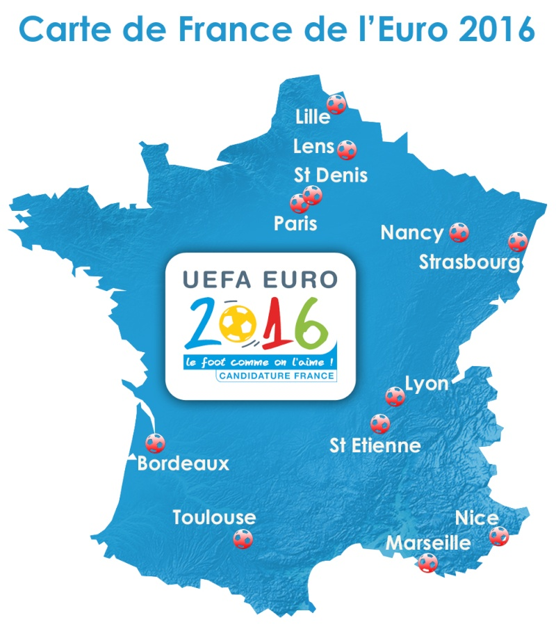 La France candidate à l'Euro 2016 (Football) Carte_10