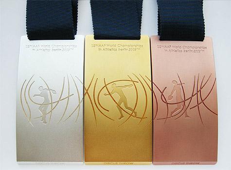 Médailles de vainqueurs des Championnats du Monde d'Athlétisme - Berlin 2009 Imagey10