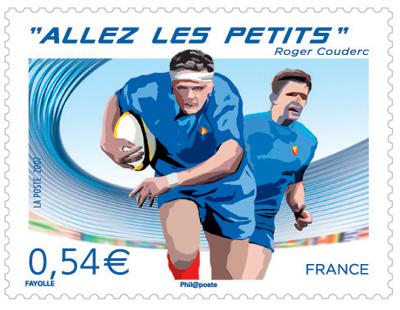 """Retour sur le timbre annonce Rugby 2007 """"Allez les petits"""" (Ed. 2007) Timbre10"""