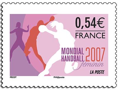 "Retour sur le timbre ""Handball France 2007"" (Ed. 2007) Timbre11"