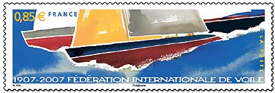Retour sur le timbre Centenaire de la Fédération Internationale de Voile (Ed. 2007) Timbre14