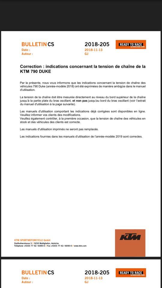 Correction KTM: Tension de chaine 790 Duke 46511110
