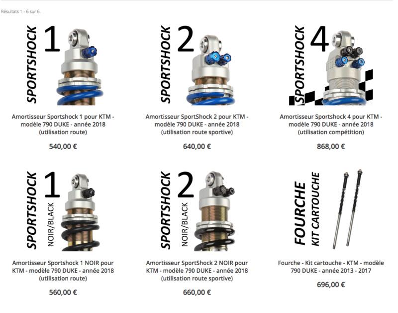 Amortisseur / kit cartouche EMC pour KTM - KTM 790 DUKE  Captu116