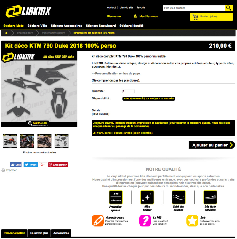 Linkmx: Kit déco 790 Duke Captu205
