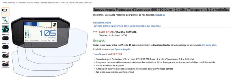 Speedo Angels Protecteur d'écran pour 790 Duke  Captu214