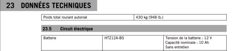 Batterie lithium KTM 790 Duke Captu243