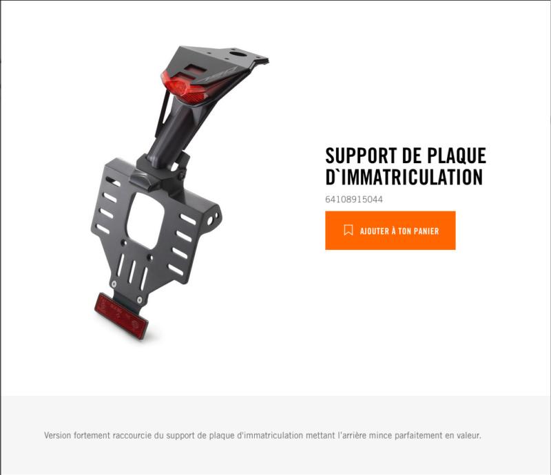 Powerparts Habillage et graphisme by KTM Captu265