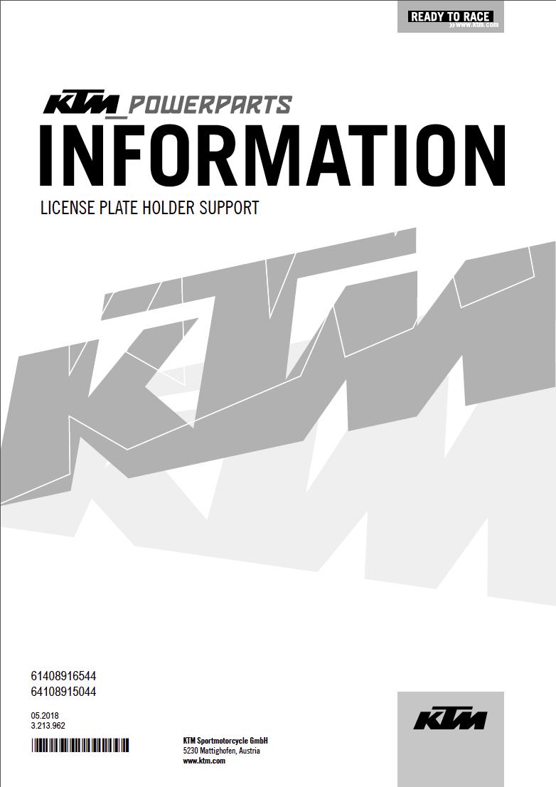 Powerparts Habillage et graphisme by KTM Captu268