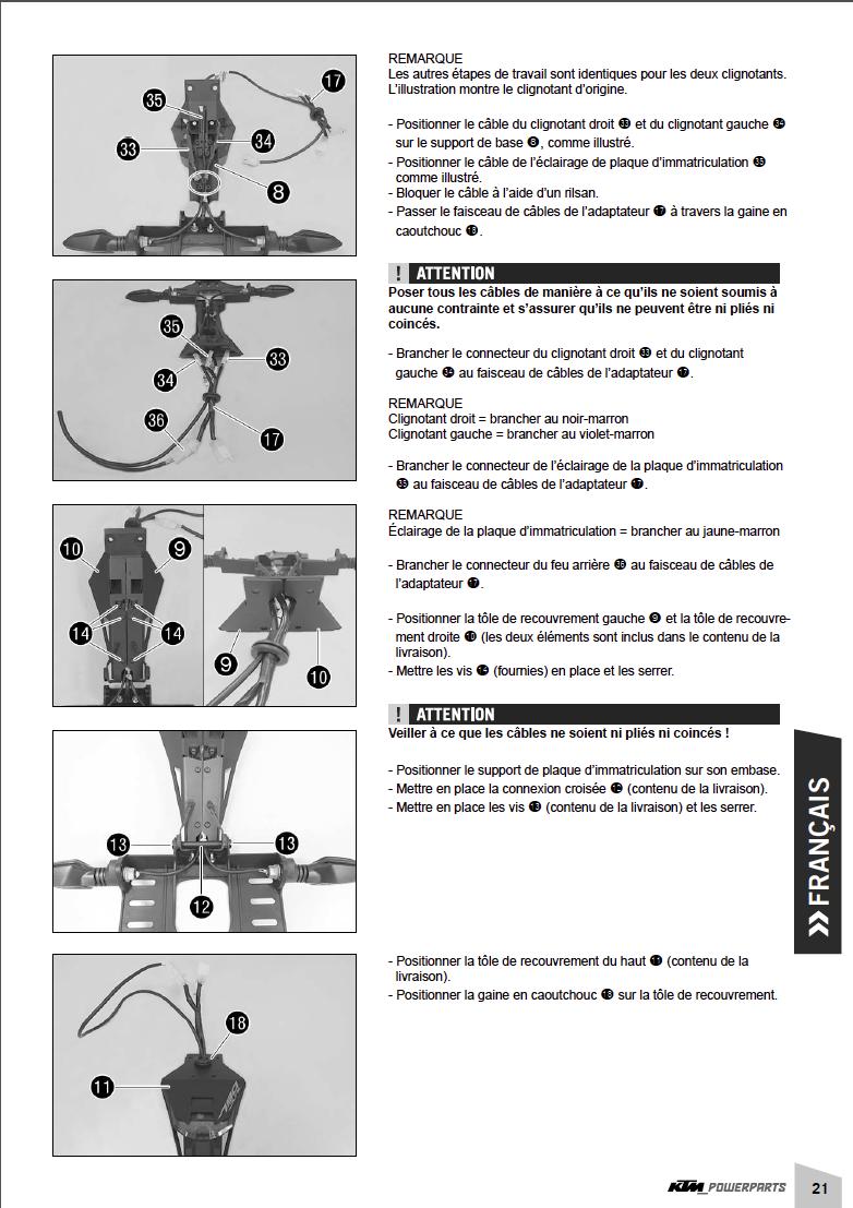 Powerparts Habillage et graphisme by KTM Captu270