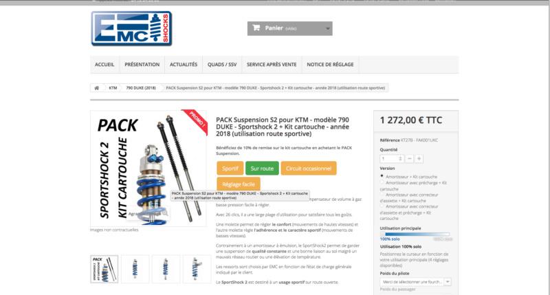 Amortisseur / kit cartouche EMC pour KTM - KTM 790 DUKE  Captu289