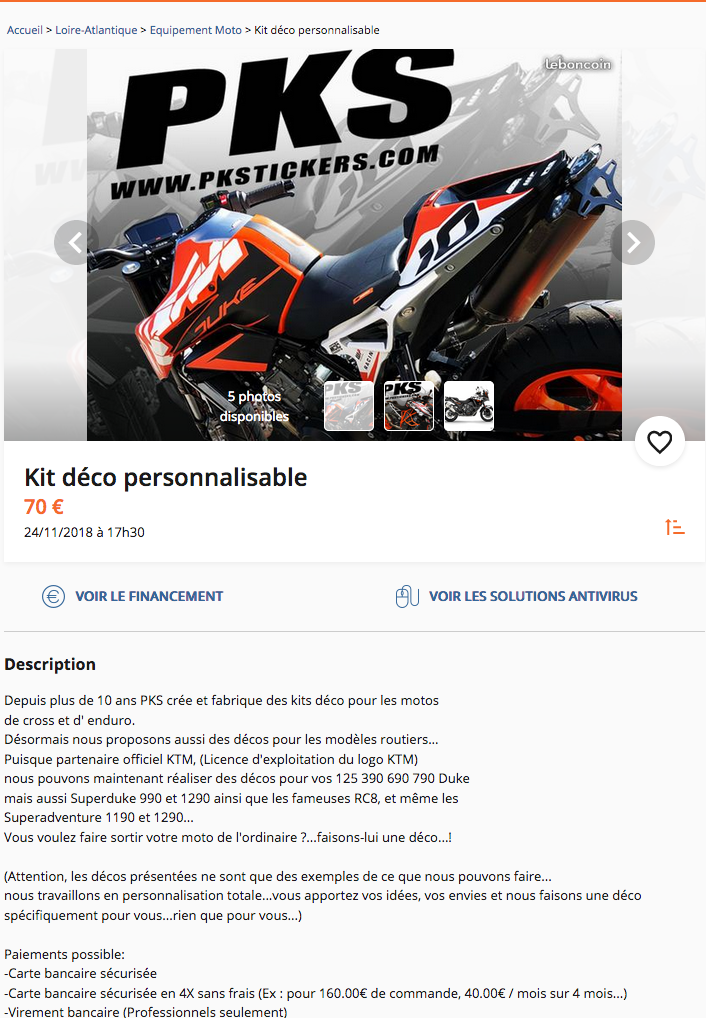 PKS: Kit déco 790 Duke Captu335
