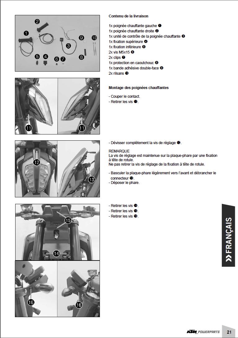 confort - Powerparts Ergonomie et confort by KTM Captu341