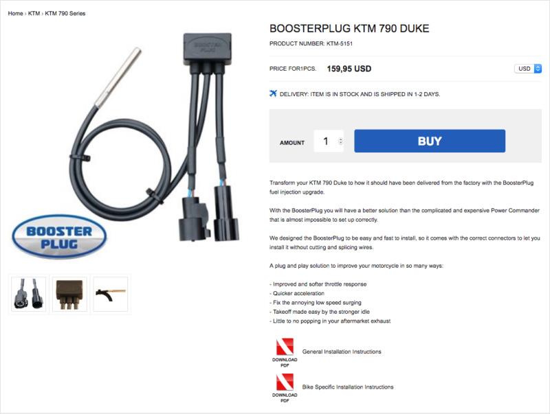Booster Plug pour KTM 790 Captu392