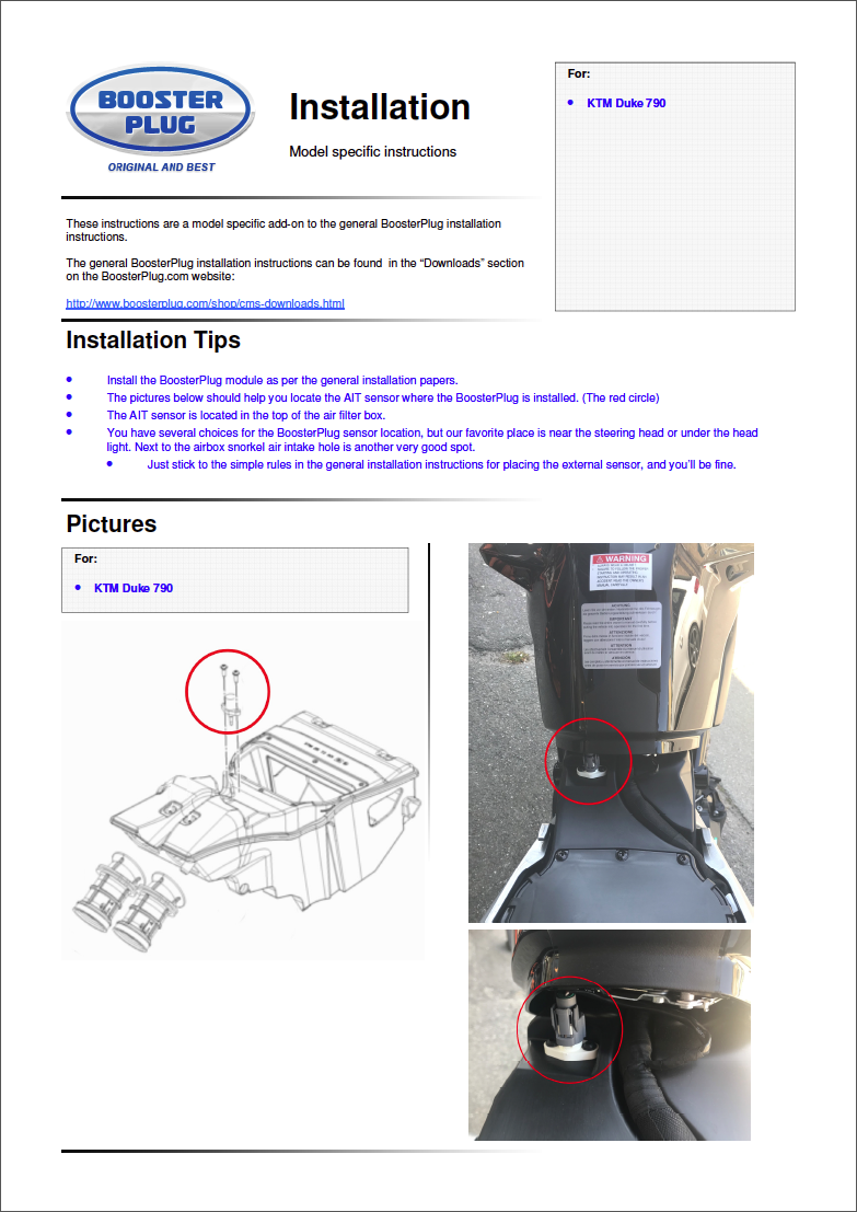 Booster Plug pour KTM 790 Captu396