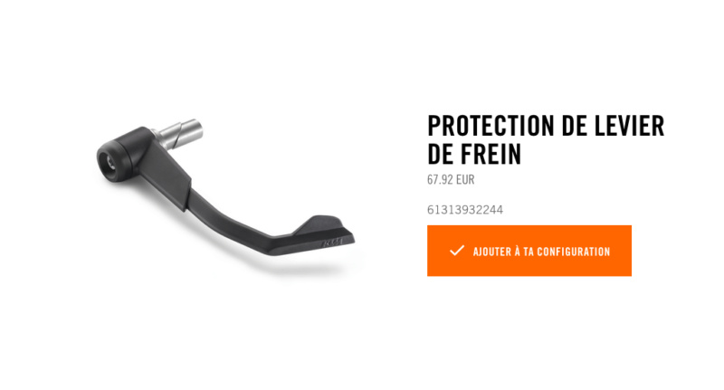Powerparts Ergonomie et confort by KTM Captur42