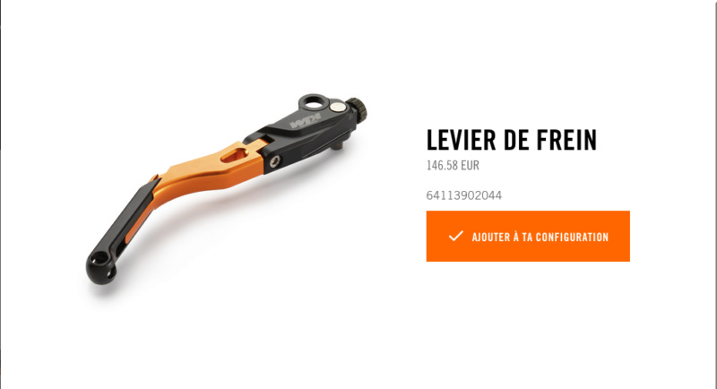 Powerparts Ergonomie et confort by KTM Captur44