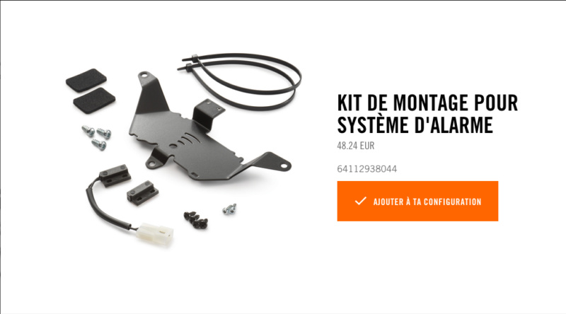 Powerparts Ergonomie et confort by KTM Captur47