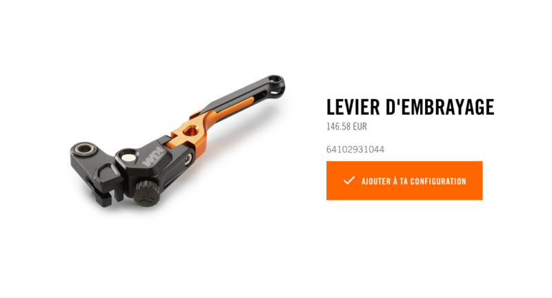 Powerparts Ergonomie et confort by KTM Captur48