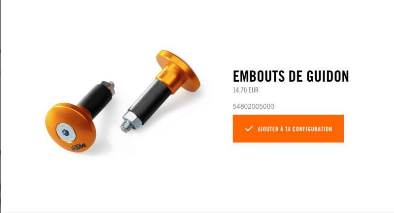 Powerparts Ergonomie et confort by KTM Captur49
