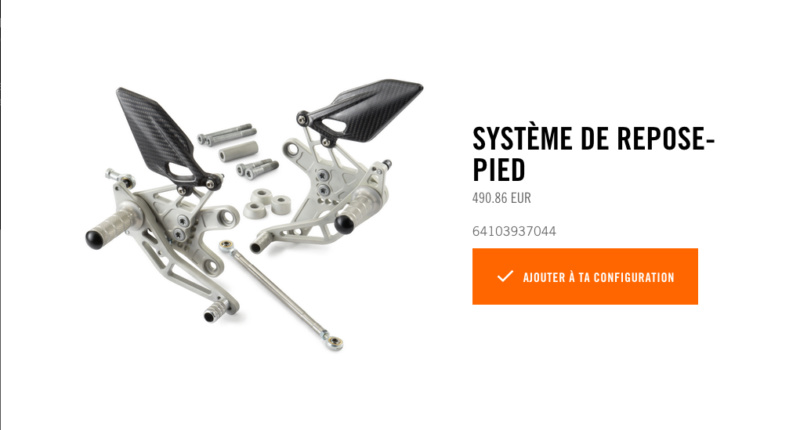 Powerparts Ergonomie et confort by KTM Captur52