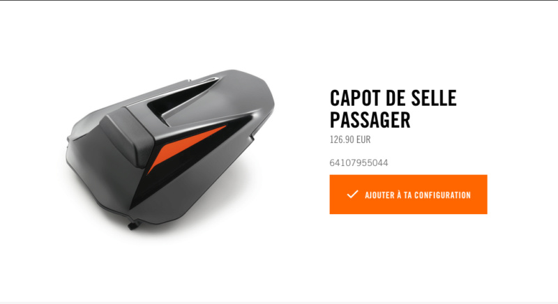 Powerparts Ergonomie et confort by KTM Captur53