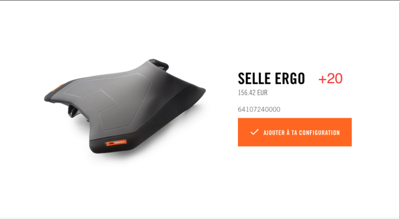 Powerparts Ergonomie et confort by KTM Captur54