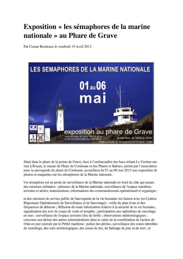 SÉMAPHORE - GRAVES (GIRONDE) Exposi10