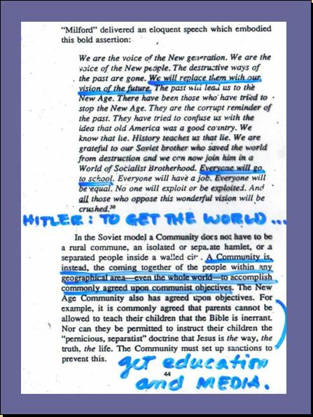 ONE WORLD MIND - ONE WORLD EDUCATION CONTROL OF CHILDREN IN NEW AGE CURRICULA, CONTROL OF YOUTH AND PEOPLES OF THE WORLD) A5210