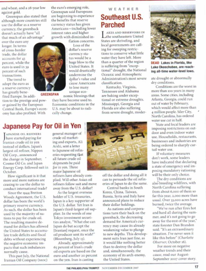 One World Market & Currency - CAUSES FOR DOLLAR DECLINE Pnypd101