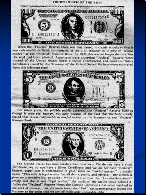 One World Market & Currency - CAUSES FOR DOLLAR DECLINE Pnypd110