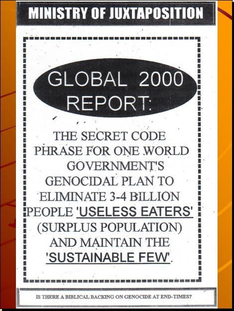 GLOBAL 2000 REPORT - U.N.'S 4TH HIDDEN AGENDA, THE DEPOPULATION AGENDA / AGENDA 21 THE EARTH CHARTER / SUSTAINABLE DEVELOPMENT PROGRAM - Page 4 Pnypd330