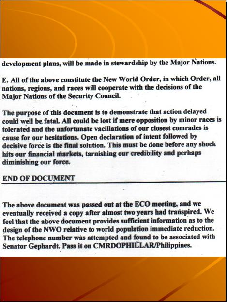 GLOBAL 2000 REPORT - U.N.'S 4TH HIDDEN AGENDA, THE DEPOPULATION AGENDA / AGENDA 21 THE EARTH CHARTER / SUSTAINABLE DEVELOPMENT PROGRAM - Page 6 Pnypd455