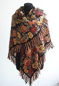 Варианты повязывания и ношения павловопосадских платков. Как носить платки. Как завязать платок. 0110