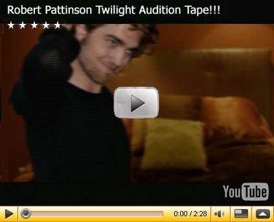 Vidéo de l'audition de Robert Pattinson avec Kristen Stewart!! Robert10