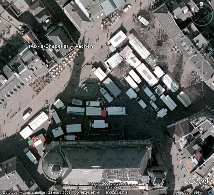 Marchés et Brocantes sur Google Earth Aix-la10